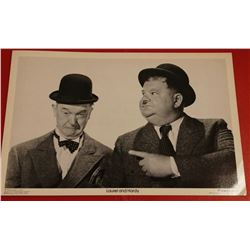 LAUREL AND HARDY CARD.