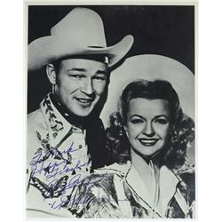 ROY ROGERS and DALE EVANS signed photo.