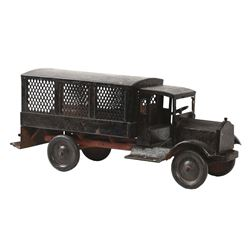 BUDDY  L VINTAGE METAL DELIVERY TOY TRUCK.