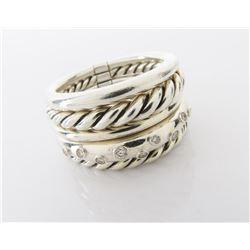 David Yurman Sterling Stax Ring
