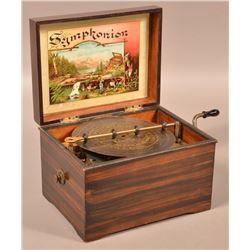 German Rosewood Case Disc Music Box.