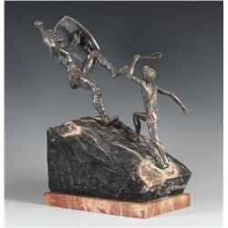 Yaacov Heller - David & Goliath Art Sculpture