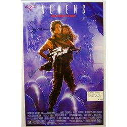 Cast signed Aliens One Sheet