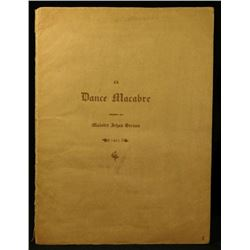 1891 Dance Macabre illustrated dance of death.