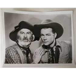 ROY ROGERS AND GABBY HAYES VINTAGE PHOTO.