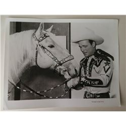 ROY ROGERS AND TRIGGER VINTAGE PHOTO.