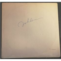 THE BEATLES WHITE ALBUM SIGNED BY JOHN LENNON.