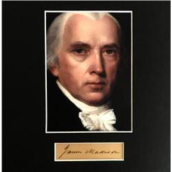PRESIDENT JAMES MADISON (1751-1836).