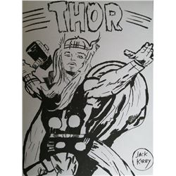 JACK KIRBY (1917-1994) - THOR DRAWING.