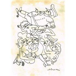 MINO MACCARI DRAWING (1898-1989).