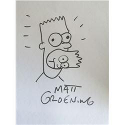 BART SIMPSON DRAWING BY MATT GROENING.
