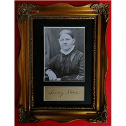 LUCY STONE (1818-1893).