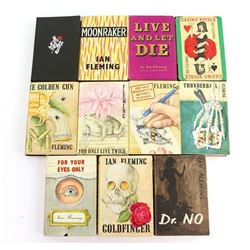 Ian Fleming - 11 Hard Back books printed by Jonathan Cape including first editions.