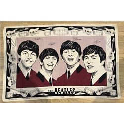 THE BEATLES - IRISH LINEN TEA TOWEL.