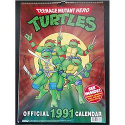 TEENAGE MUTANT HERO TURTLES 1991 CALENDAR.