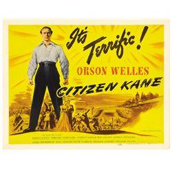 "Citizen Kane (RKO, 1941). Title Lobby Card (11"" X 14"")."