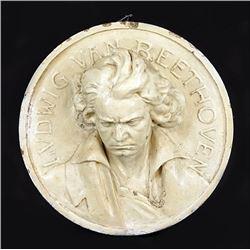 German Glazed Ceramic Medallion