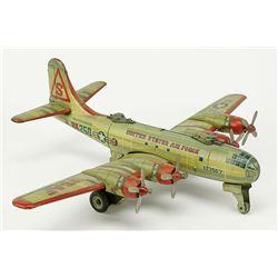 Japanese Yonezawa tin Friction Bomber Airplane.