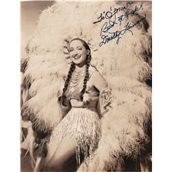 DOROTHY LAMOUR SIGNED PHOTO.