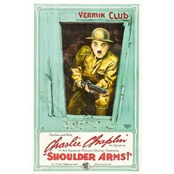 Shoulder Arms (First National, 1918). One Sheet.