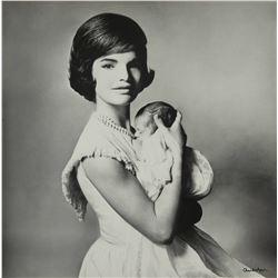 RICHARD AVEDON:  Jacqueline and John F. Kennedy Jr., 1961.