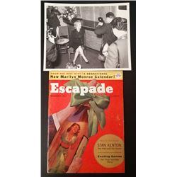 ESCAPADE DEC 1956 MAGAZINE AND MILTON GREENE MARILYN MONROE - PRINCE AND THE SHOW GIRL PHOTO.