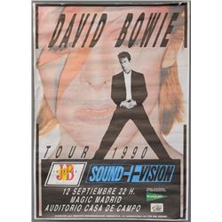 David Bowie 1990 Tour poster