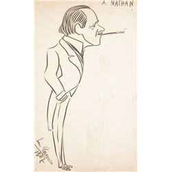 ENRICO CARUSO SIGNED DRAWING.