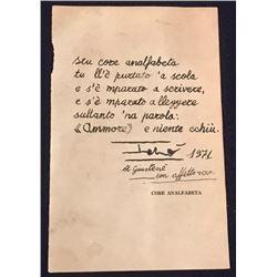 TOTO CUTUGNO SIGNED. (1943-)