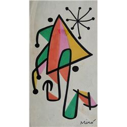 JOAN MIRO (1893-1983): UNTITLED.