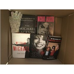 COLLECTION OF MICHAEL JACKSON BOOKS.