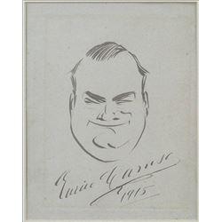 ENRICO CARUSO (ITALIAN, 1873-1921) SELF PORTRAIT.