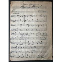 ENRICO CARUSO SIGNED SONGSHEET.