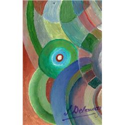 SONIA DELAUNAY PAINTING. (1885-1979).