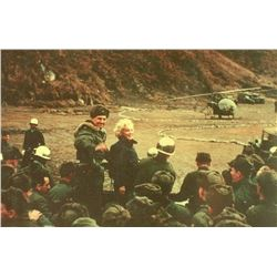 MARILYN MONROE ca 1954 Entertains Troops In Korea negative.