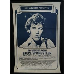 Randy Tuten Signed Bruce Springsteen Original Poster
