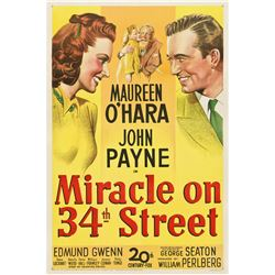 Miracle on 34th Street (20th Century Fox, 1947). One Sheet
