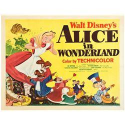 Alice in Wonderland (RKO, 1951). Half Sheet.