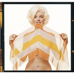 BERT STERN (1929-2013): MARILYN MONROE With the Striped scarf.