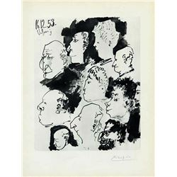 "Pablo Picasso Signed ""Faces"" Heliogravure"