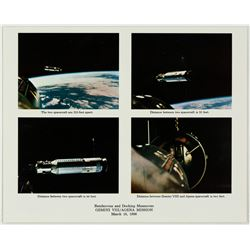 Gemini 8: NASA Mission Rendezvous and Docking Highlights Colour Photo