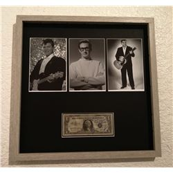 BUDDY HOLLY, RICHIE VALENS, AND THE BIG BOPPER SIGNED 1 DOLLAR BILL.