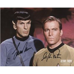 STAR TREK: WIlliam Shatner/Leonard Nimoy signed photo.