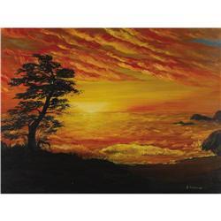 James Coburn Oil Painting. An avid painter, act James Coburn Oil Painting.