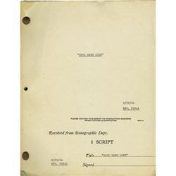 "Cool Hand Luke Script. A revised final draft ""Cool Hand Luke"" Script."