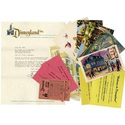 Early Memorabilia from Disneyland. Since its op Early Memorabilia from Disneyland.