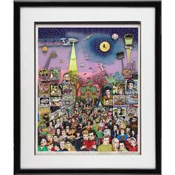 "Charles Fazzino ""Remembering '60s TV"" 3-D Lithog Charles Fazzino ""Remembering '60s TV"" 3-D Lithograp"