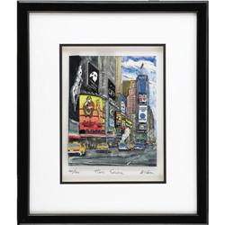 """Steve McGee """"Times Square"""" 3-D Lithograph. Numb Steve McGee """"Times Square"""" 3-D Lithograph."""