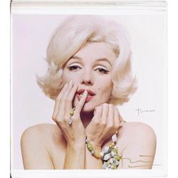 Marilyn Monroe Hand Signed Dye Transfer by Bert Marilyn Monroe Hand Signed Dye Transfer by Bert Ster