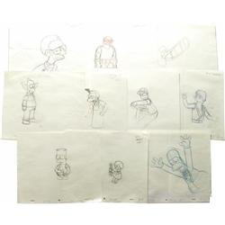 Simpsons Group of Production Sketches. Simpsons Group of Production Sketches.